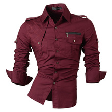 2018 New Fashion Casual slim fit long-sleeved men's dress shirts Korean styles cotton shirt 8371