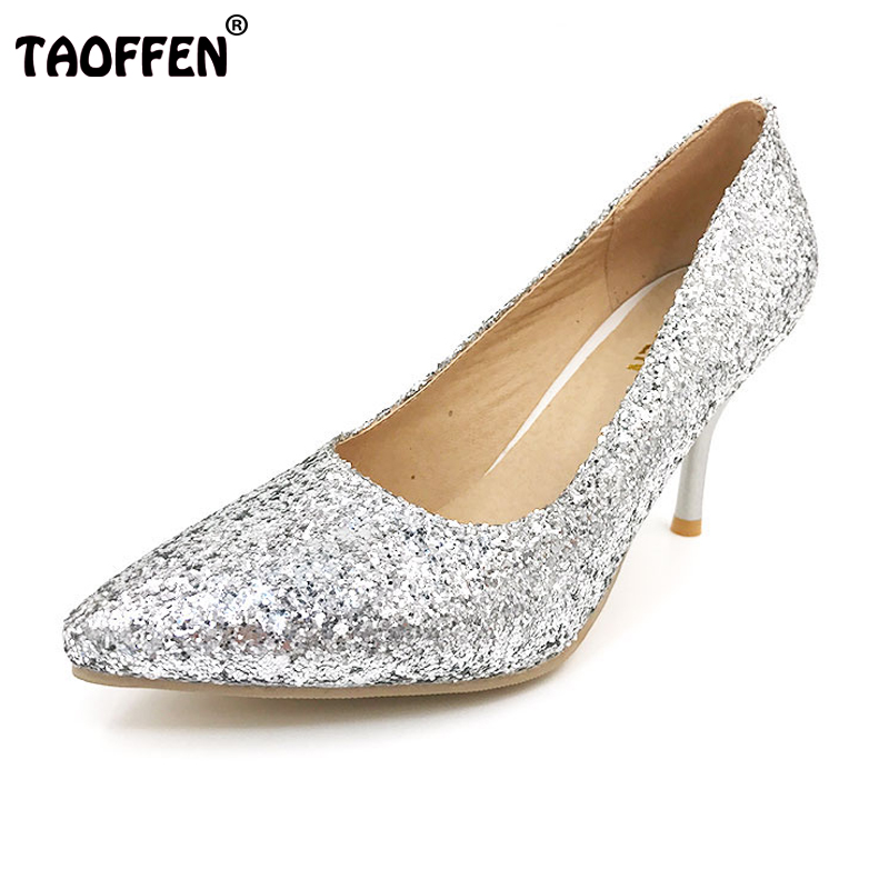 TAOFFEN women high heel shoes footwear fashion lady pointed toe female quality heels pumps P10911 hot sale 30-43 taoffen free shipping high heel shoes women sexy dress footwear fashion lady female pumps p13165 hot sale eur size 32 43