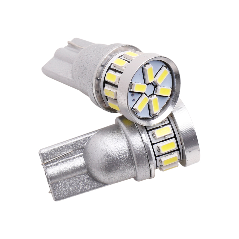 2pcs w5w led T10 LED Bulbs Canbus 18SMD 3014 For Car Parking Position Lights Interior Map Dome Lights 12V White Amber Blue Red (3)