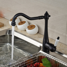 Масло Втирают Бронзовая Отделка Палуба Гора Кухня Раковина Кран Одной Ручкой Горячей и Холодной Воды Смесителя