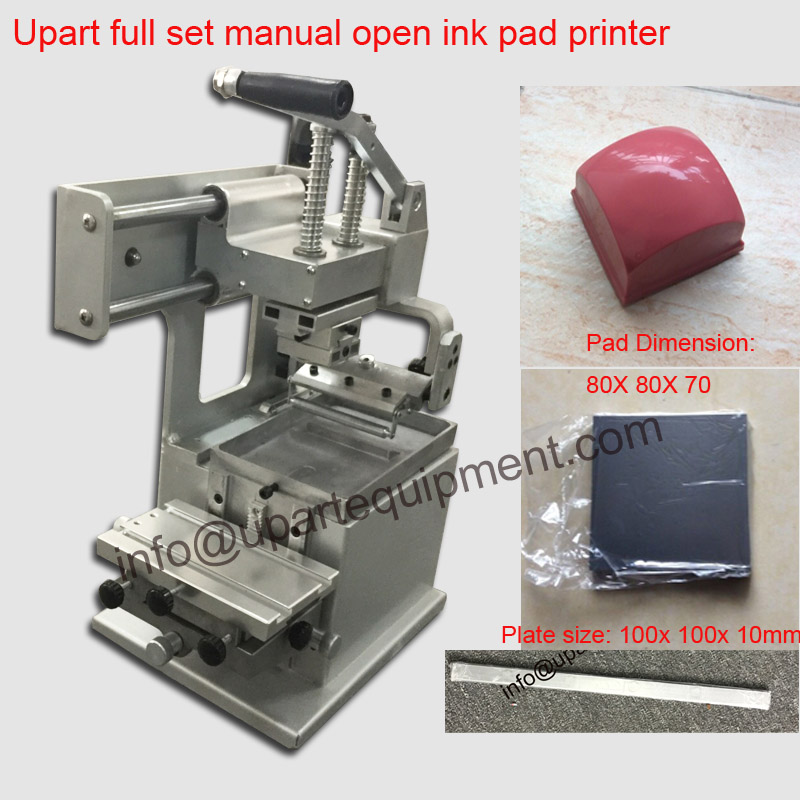 US $366 0 |second hand protable hand operation pad printer machine,open ink  plate pad printer for sale -in Printers from Computer & Office on