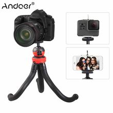 Andoer Mini Octopus Tripod Spider Stand Holder w/ 360 Ball Head for GoPro +/3 Yi Action Camera for Canon Nikon DSLR for iPhone X(China)