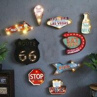 라스베가스 네온 커피 금속 기호 카페 펍 바 조명 간판 아트 그림 벽 장식 매달려 빛 금속 표지