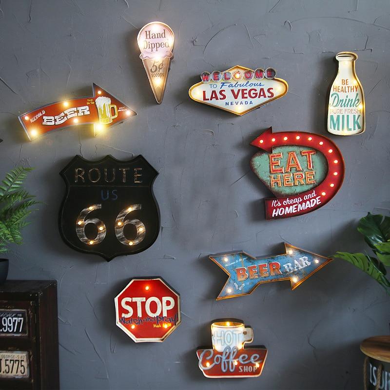 Las Vegas Led Neon Coffee Metal Sign Cafe Pub Bar