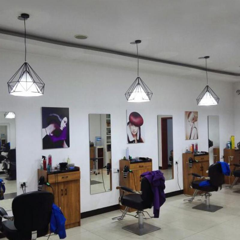 Hairdressing shop chandelier modern simple personality bright salon barber shop milk tea shop led retro lamps