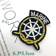 JOD 6.3*5.5cm DIY Marine Iron on Clothes Patches Decorative Embroidery Patch Applique Stickers for Clothing DIY Fabric Badges @ jod 10 4cm 67 wing diy iron on decorative biker patches for clothes applications embroidery patch applique stickers badge fabric