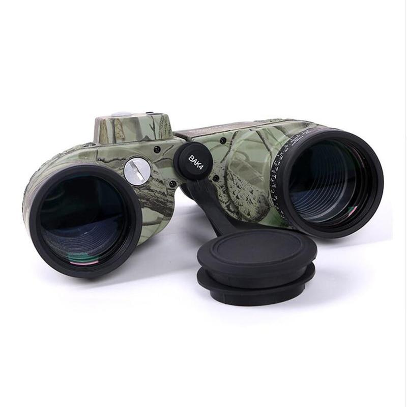 Boshile HD Military Binoculars 10x50 Professional Marine Binoculo High Power Waterproof Compass Binoculars LLL Night Vision in Monocular Binoculars from Sports Entertainment
