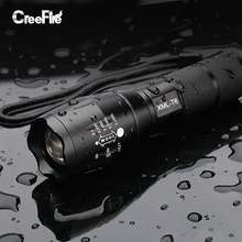 Professional CREE XML-T6 5-Modes LED Flashlight Waterproof Zoomable Adjustable Torch Lights Mini Penlight Lanterna