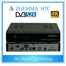 5 pcs/lot zgemma h7c 4k satellite tv receiver dvb s2x/s2 + twin dvb t2 & dvb c support multi-stream