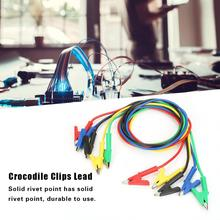 5Pcs Alligator Clips Crocodile Clips Lead Testing Cable P1024 100cm Colorful Double-ended Lead Testing Probe Cable Wire 15A electrical probe testing lead wire hooks yellow 20 pack
