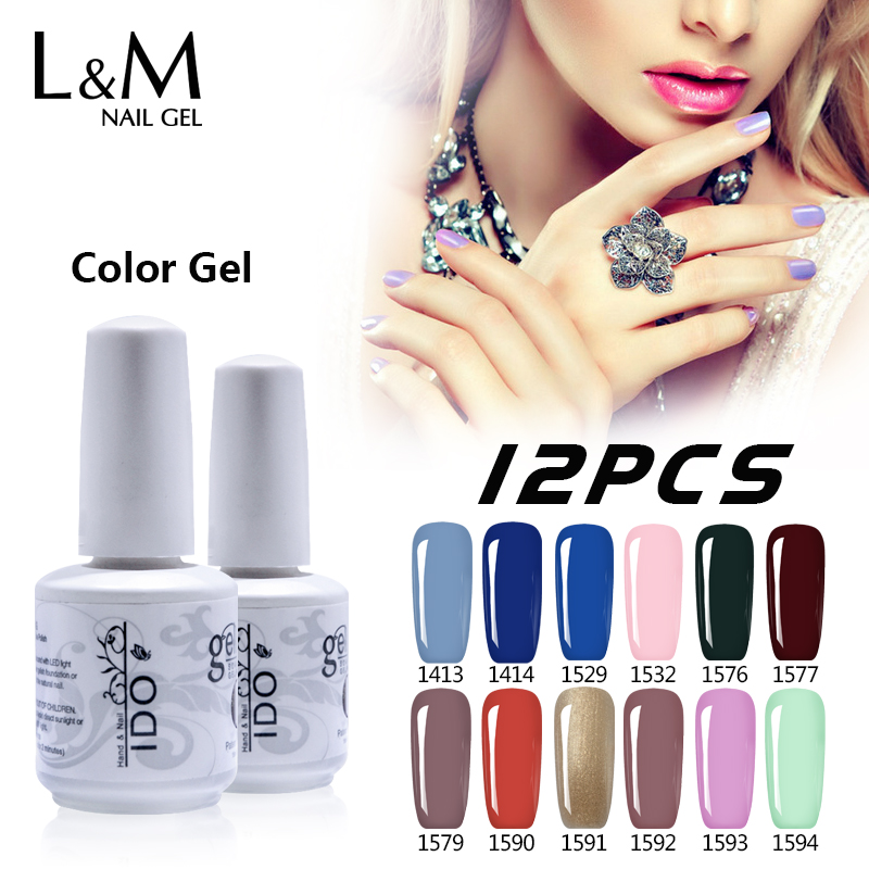 12 Pcs IDO Gelpolish 15ml Free Shipping Soak Off UV Gel Nail French Matte No Wipe Top Coat C Nails polish Chinese Supplier