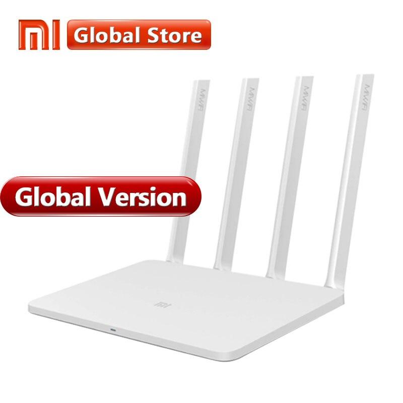 Глобальная версия Xiaomi Mi Wi Fi Маршрутизатор 3 1167 Мбит/с 802.11ac b/g/n 4 антенны Dual г Band 2,4 г/5 МБ 128 Встроенная память поддерживает APP
