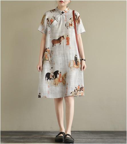 Pepin Womens Geometric Ruffled Flounce Dress Orange Multi 6