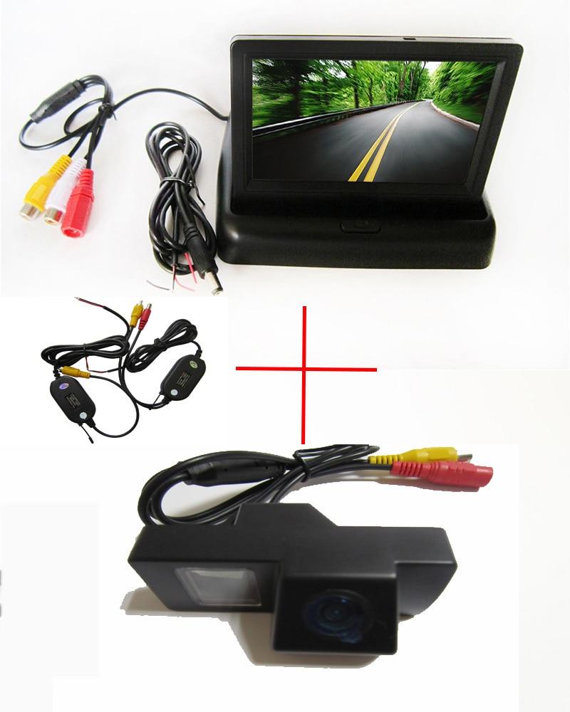 Moniteur de stationnement automatique sans fil moniteur de rétroviseur de voiture de 4.3 pouces, caméra de voiture avec pour TOYOTA LAND CRUISER 200 LC200/Toyota REIZ 2009
