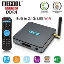 MECOOL BB2 Pro Amlogic S912 octa base Android 6.0 TV BOX DDR4 3G 16G UHD 4 K WiFi Gigabit LAN Smart Tv box Android TV Set Top boîte
