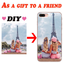 Custom DIY Photo Customized For iPhone X XR XS Max 5 5S SE 6 6S 7 8 Plus phone Case Cover phone Funda Coque Etui gift Picture(China)