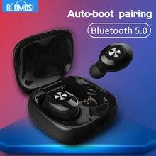 سماعة رأس بلوتوث لاسلكية V5.0 TWS ، سماعة رأس رياضية صغيرة ، ستيريو ثلاثي الأبعاد ، صوت جهير ، مشغل ألعاب ، بدون استخدام اليدين