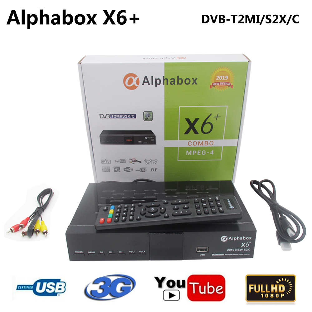 Alphabox X6+ Combo DVB S2/T2/C Satellite TV Receiver Support Cccam