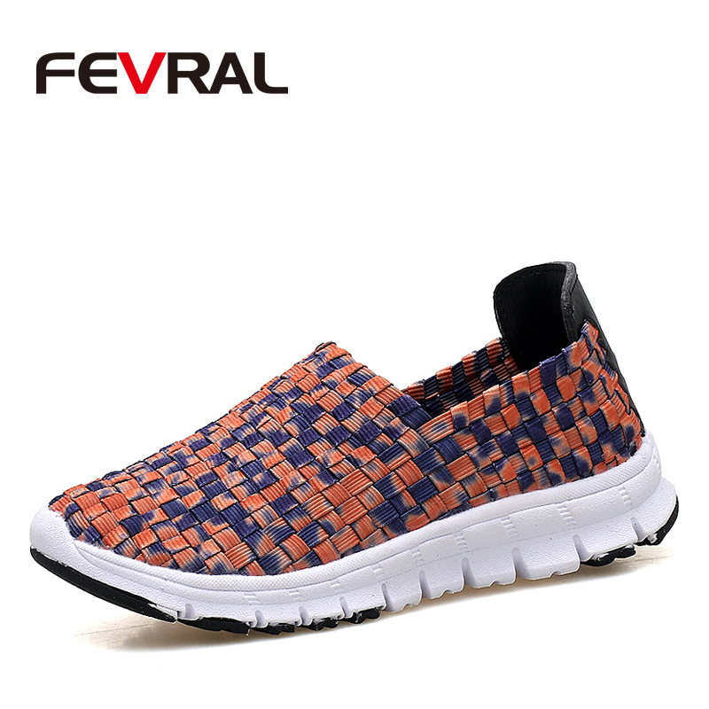 FEVRAL Brand 2018 New Spring Women New Hand-woven Shoes Autumn Soft Comfortable Casual Shoes Fashion Lady Flats Shoes For Woman vtota fashion spring autumn women flats 2017 shoes woman slip on casual shoes soft comfortable women shoes new ladies shoes x48