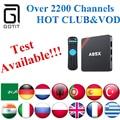 A95X Smart TV Box S905X Quad core 1GB/8GB +Power IPTV Europe iptv italy Portugal Germany French Adult XXX Best Arabic IPTV Box