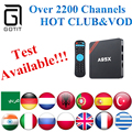 S905X A95X Smart TV Box Quad core 1 GB/8 GB + IPTV Poder Europa italia Portugal Alemania Francés Adultos XXX Mejor IPTV Árabe iptv Caja