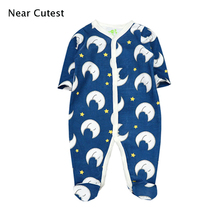 Near Cutest Baby Romper Newborn Baby Boy Clothes Baby Clothing Long Sleeve Baby Overall Bebe Clothes roupa de bebe menino стоимость