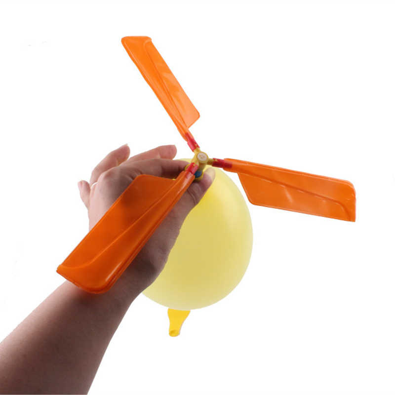 Fun Physics Experiment Homemade Balloon Helicopter DIY Material Home School Educational Kit Child Gift