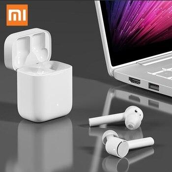 Original Xiaomi Bluetooth Earphone Air Wireless Headset Earphones Earbuds with Mic Earphone with Charging Box for iphone Xiaomi 1