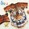 Baby swimwear girls 5-15kg tiger swimsuits with swimming hats infant toddler girls swimwear swim suit bathing suits for girls