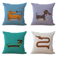 New Christmas Sausage Dog Cushion Cover Festival Dachshund New Year Gift Pillow Cover Bedroom Sofa Decoration factory supplies