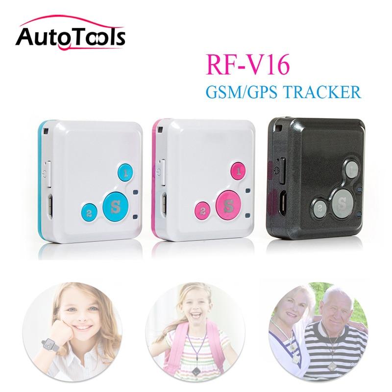 Mini GPS tracker Personal Kids Child GSM GPRS GPS Tracker RF V16 SOS Communicator 7 Days Standby Voice Monitoring via free ship