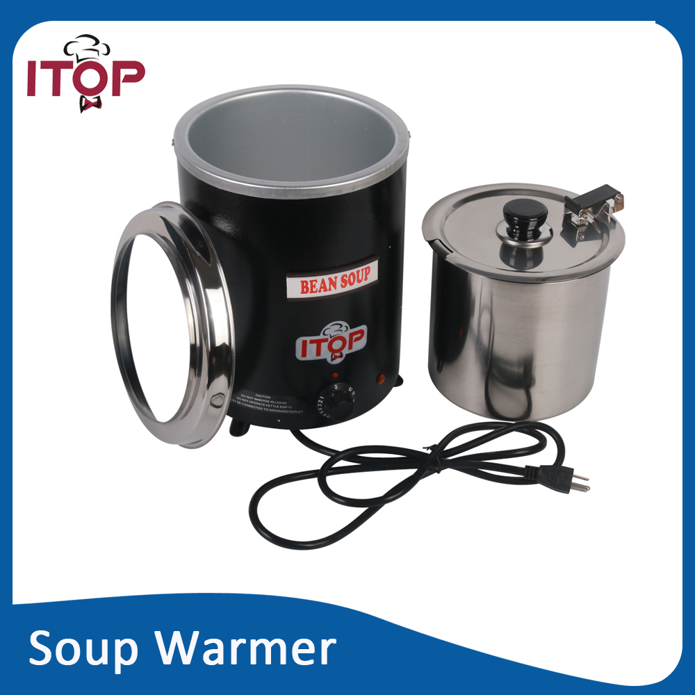 itop bsw57 soup kettle 110v 220v electric soup warmer water wet heat - Soup Warmer