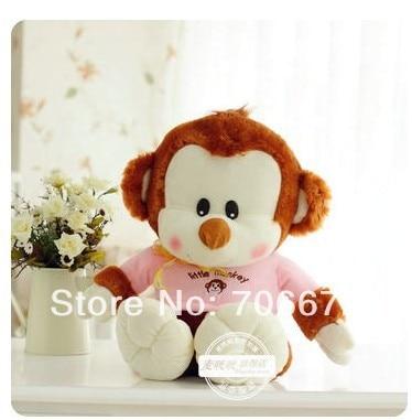 박제 동물 사랑스러운 핑크 천으로 작은 원숭이 PP 면화 약 45cm 원숭이 플러시 장난감 인형 선물 t535