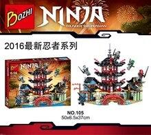 Bozhi 105 Ninja Temple of Airjitzu Battle of the Temple Minifigures Building Block Minifigure Toys Compatible Legoe