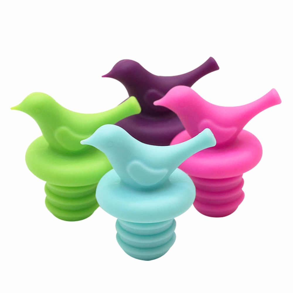 Creative bird pigeon shape leakproof silicone wine stopper beer ...