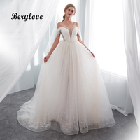 BeryLove сексуальное свадебное платье 2018 с открытыми плечами кружевное свадебное платье es для свадьбы Плюс Размеры Свадебные платья Для женщин