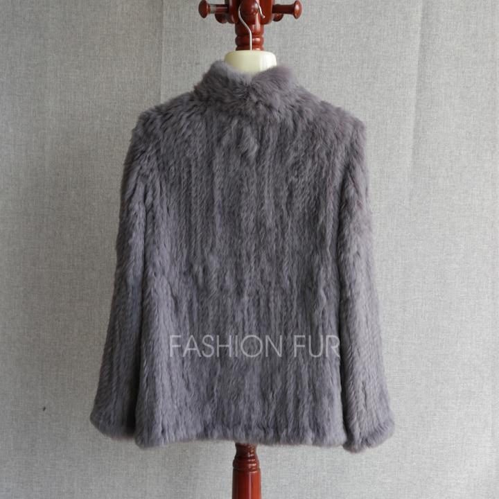 Manteau La Fourrure black De Yh12 Knit Hiver Taille Cream grey Veste 3xl Véritable Femmes Plus Chaud S Outwear Lapin Mode Nouveau Naturel Réel w8Ovm0Nn