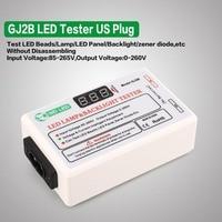 GJ2B Voltage LED LCD TV Screen Backlight Zener Diode Tester Meter Lamp Strip Bead Light Board Test Tool Output 0~260V US Plug