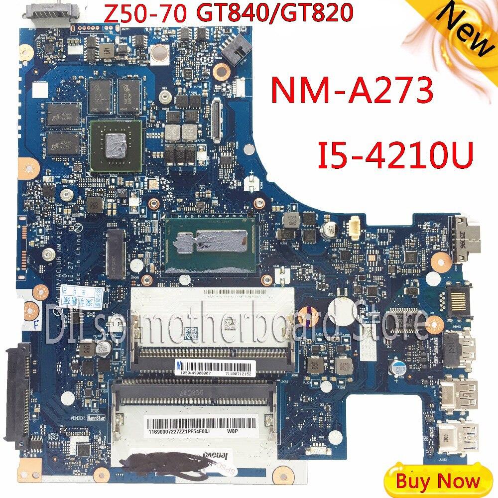 KEFU G50 70M для Lenovo g50 70 z50 70 i5 материнской ACLUA/ACLUB NM A273 Rev1.0 с GT820M/GT840M видеокарты Тесты