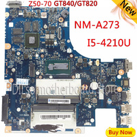 KEFU G50 70M For Lenovo G50 70 Z50 70 i5 motherboard ACLUA/ACLUB NM A273 Rev1.0 with GT820M/GT840M graphics card Test