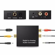 بروتابلي 3.5 مللي متر جاك 2 * RCA الرقمية محلل شفرة سمعي محول محول مكبر للصوت الألياف البصرية محوري إشارة إلى الصوت ستيريو التناظرية