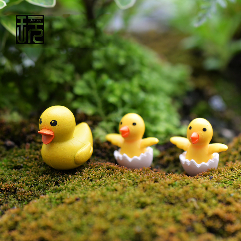 unidslote pato artificial modelo de familia figuras de hadas miniaturas jardn kawaii mini