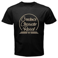 CCR Creedence Clearwater Revival Rock Legend Men S Black T Shirt Size S To 2XL T
