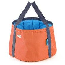 10L Portable Outdoor Travel Foldable Folding Camping Washbasin Basin Bucket Bowl Sink Washing Bag Water bucket free shipping