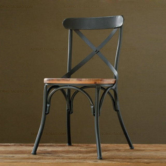 American Village Loft Stylish Modern Industrial Style Dining Chairs