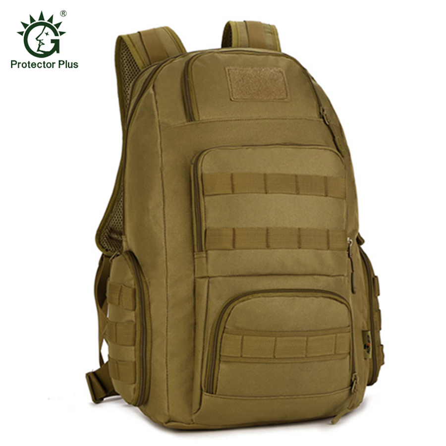 Protector Plus Military Tactical Backpack 40L 15 Inches Laptop Men Sport Camping Outdoor Rucksack Fishing Mochila