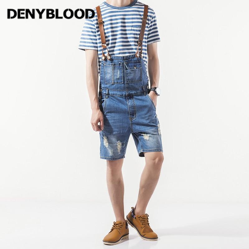 Online Get Cheap Mens Denim Shorts Jumpsuit -Aliexpress.com ...