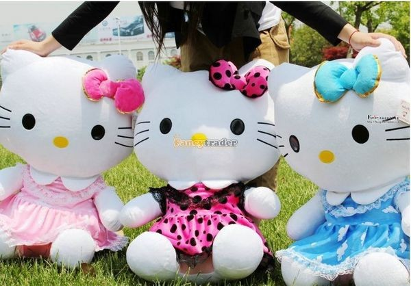 Fancytrader 28\'\' 70cm Lovely Giant Stuffed Soft Plush Big Giant Hello Kitty, 3 Colors, Free Shipping FT50759(4)