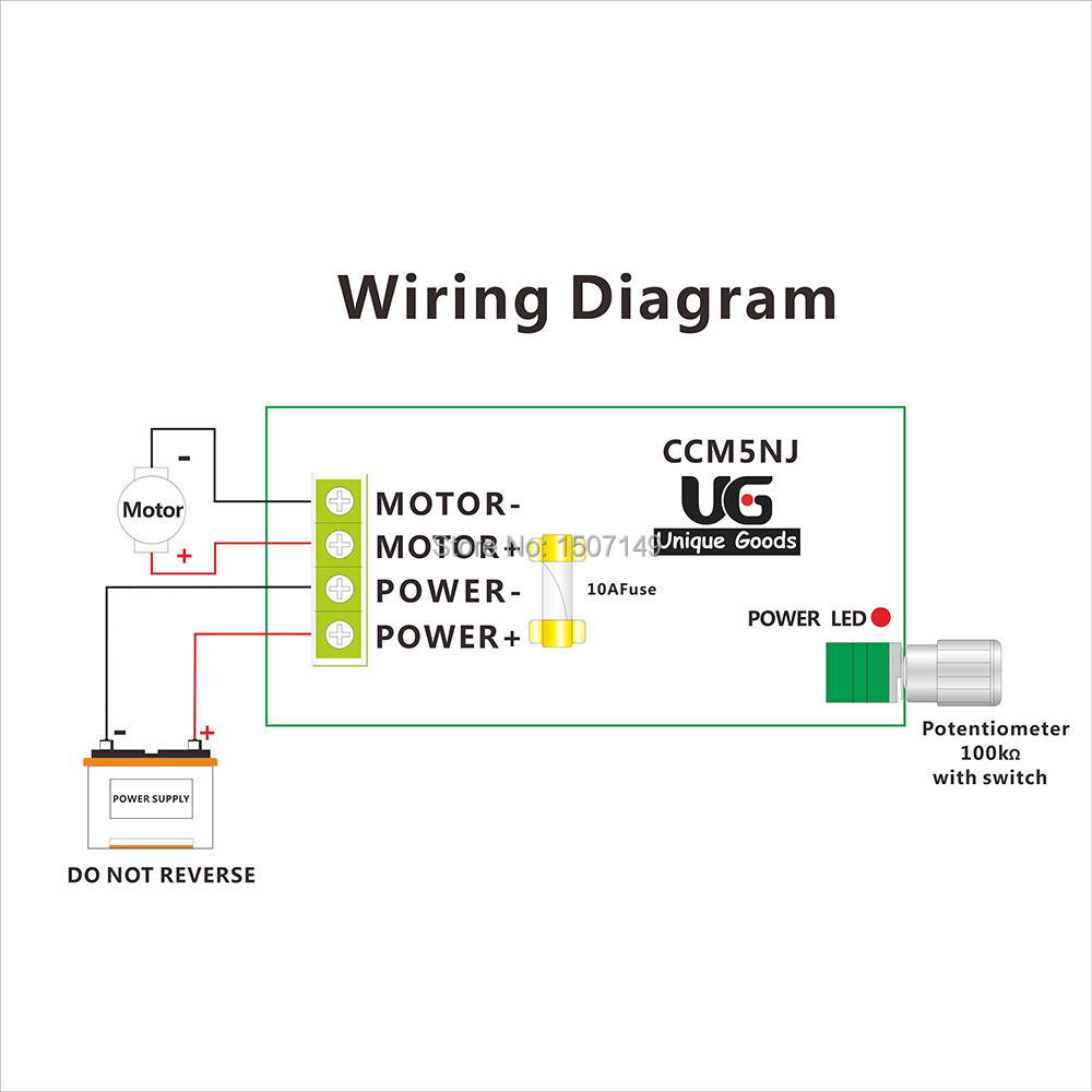Variable Speed Switch Wiring Diagram Library Dc Motor Unique Goods 12v 24v 36v 60v 10a Controller Pwm 400w