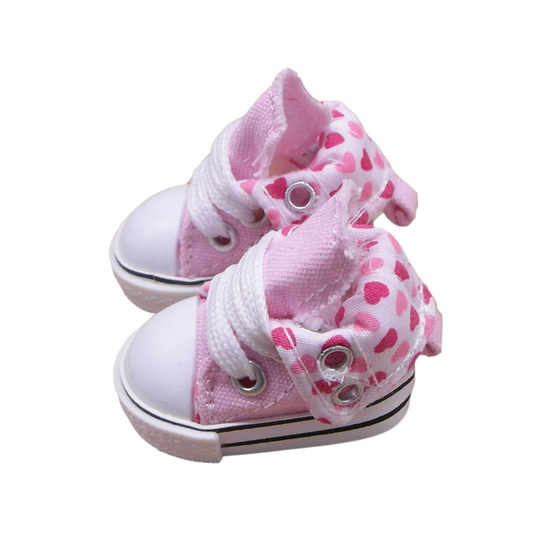 Tilda 3.5cm Doll Boots for Blythe Doll Toy,1/8 Mini Canvas Dolls Shoes for BJD,Casual Doll Sneakers Accessories 6 Pairs/lot canvas shoes for paola reina doll fashion mini toy gym shoes for tilda 1 3 bjd doll footwear sports shoes for dolls accessories